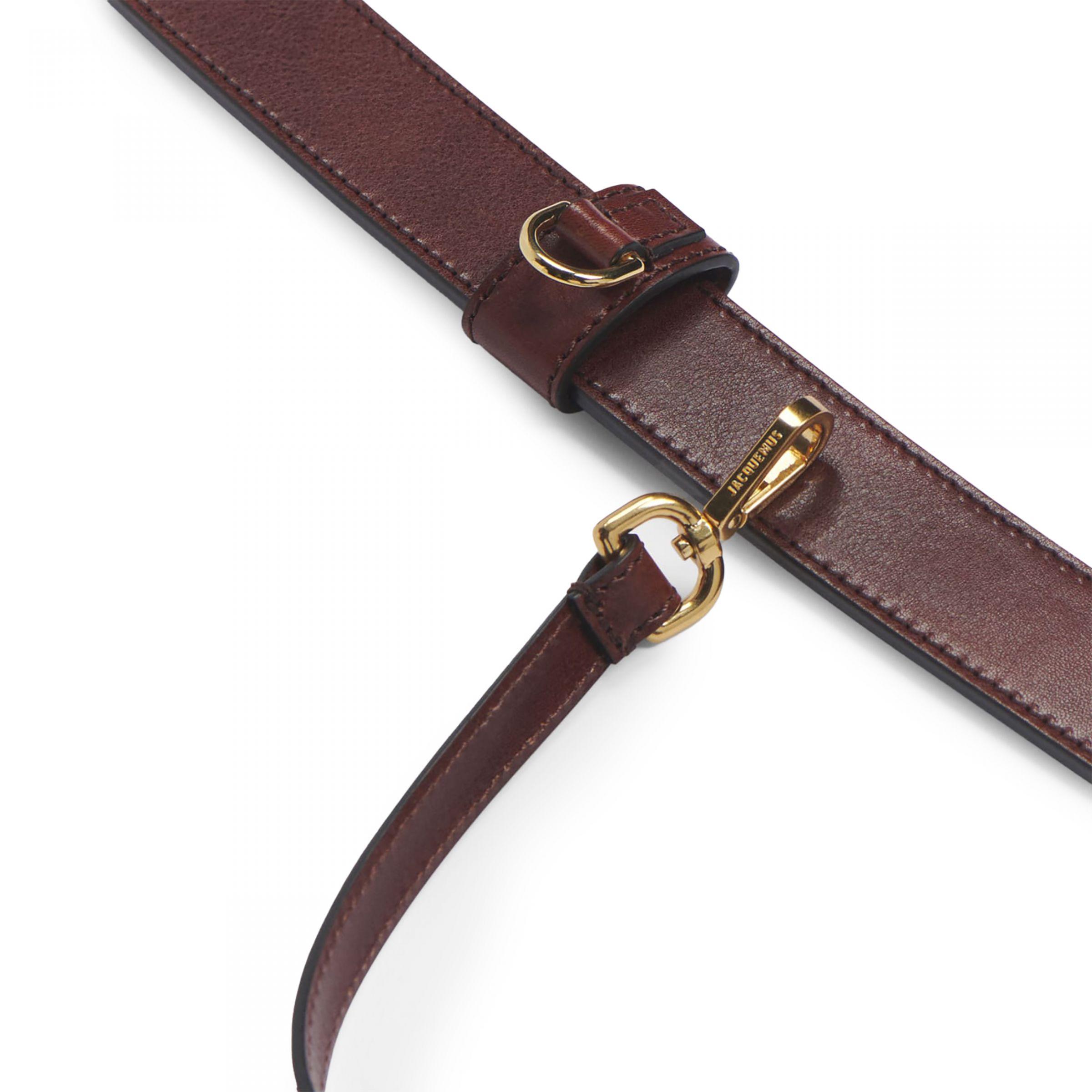 Ремень Jacquemus La ceinture porte cartes коричневый