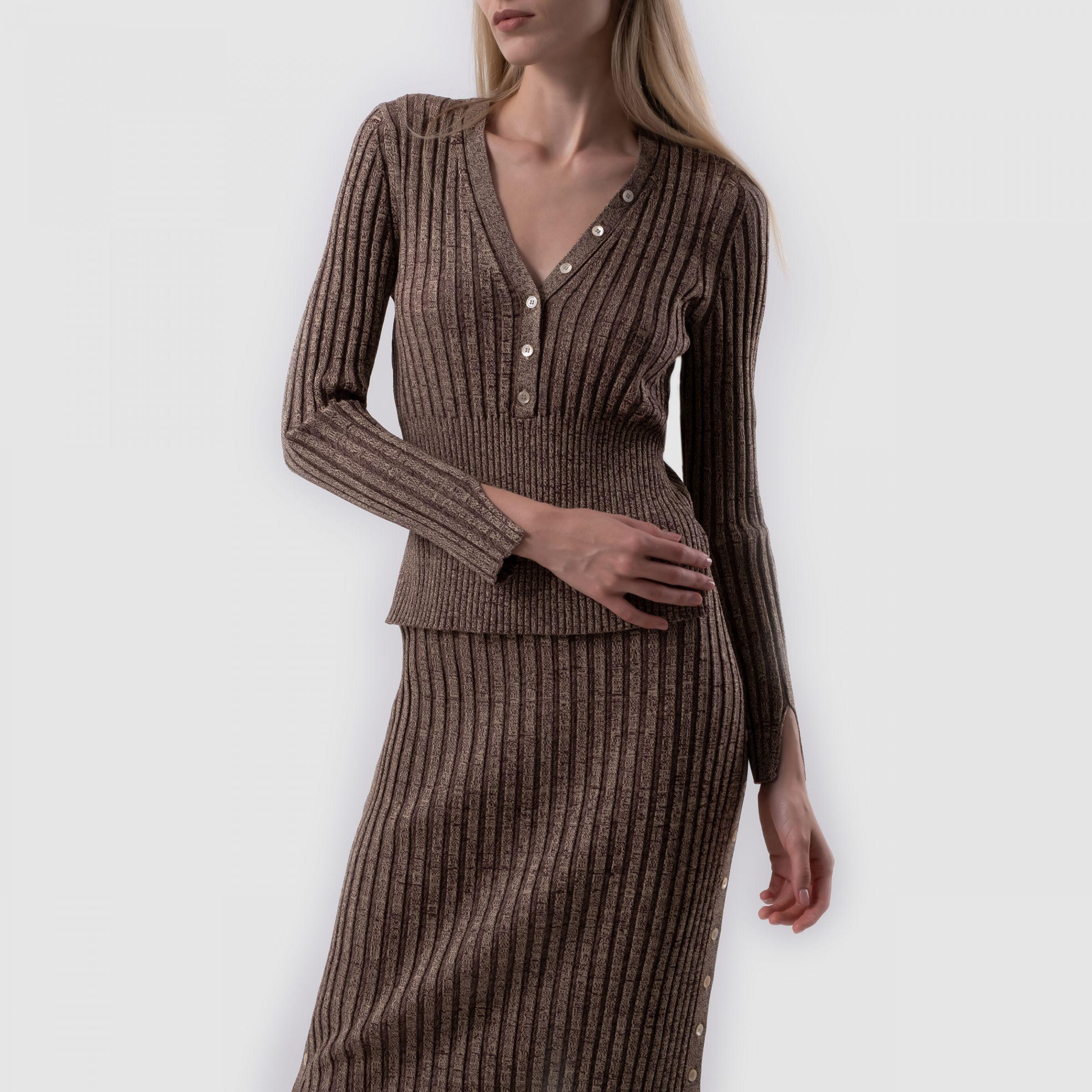 Пуловер Jonathan Simkhai коричневый