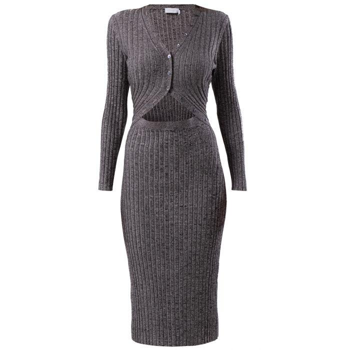 Платье Jonathan Simkhai Kim серое