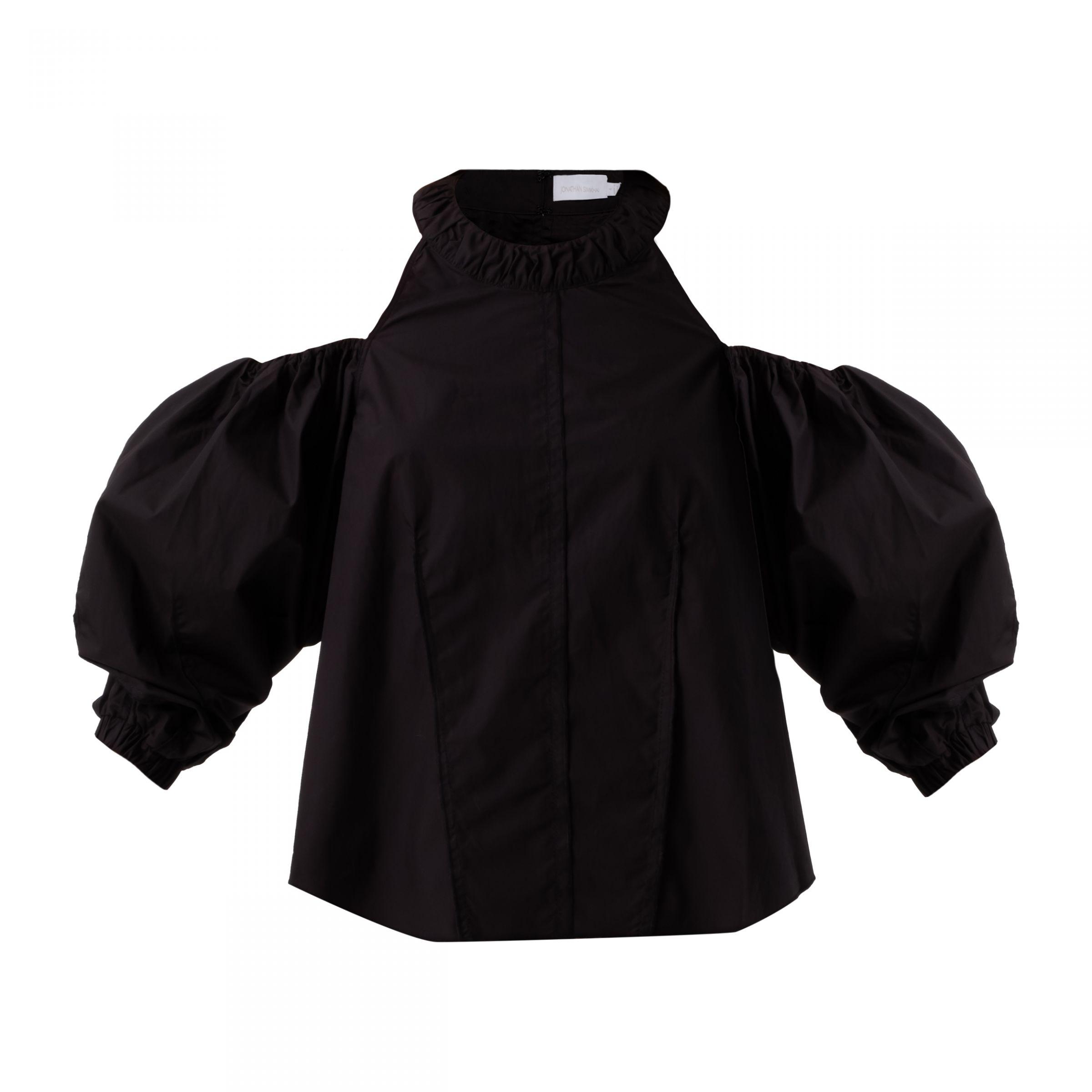 Блуза Jonathan Simkhai черная