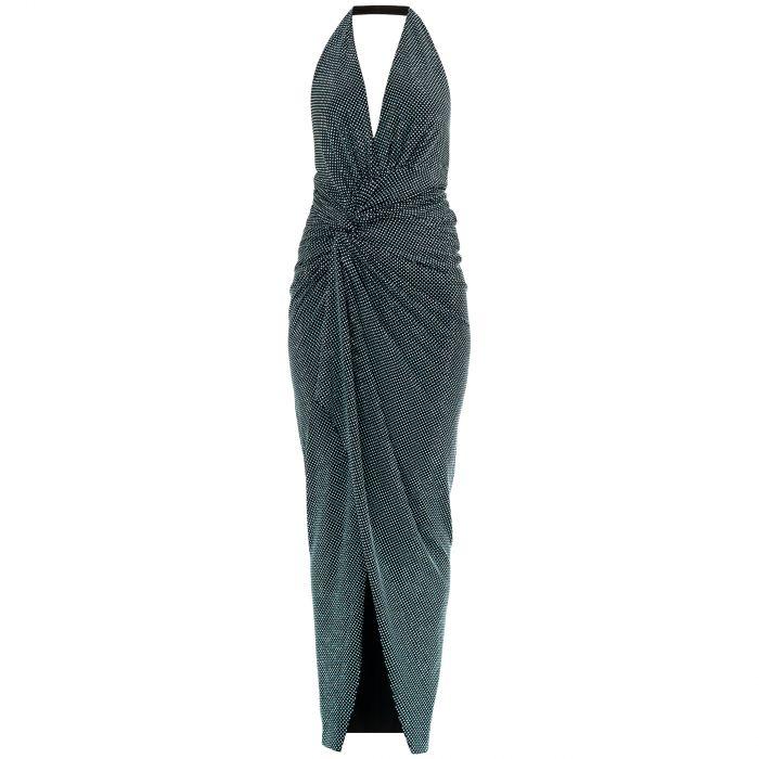 Платье Alexandre Vauthier зелено-голубое