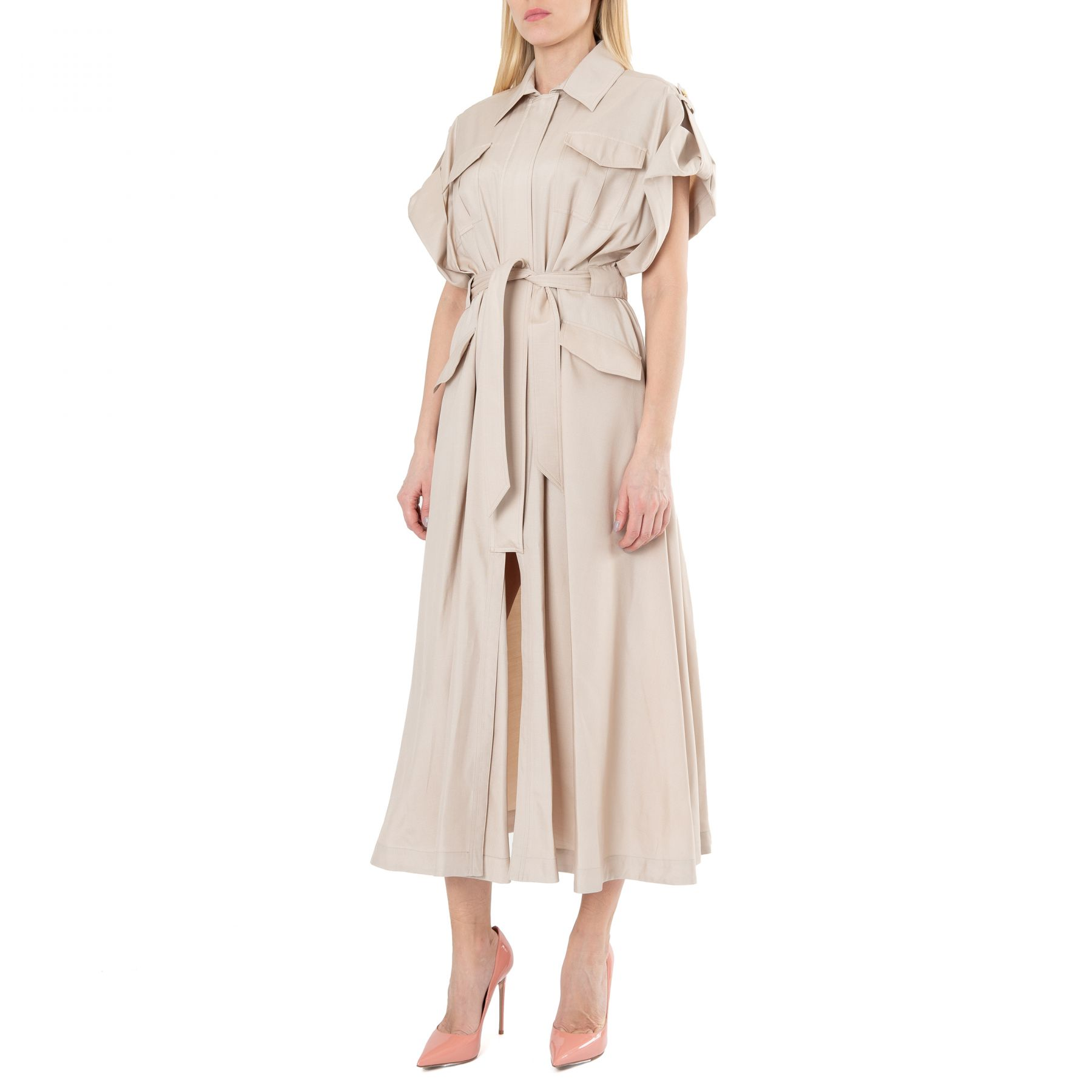 Платье Alexandre Vauthier бежевое