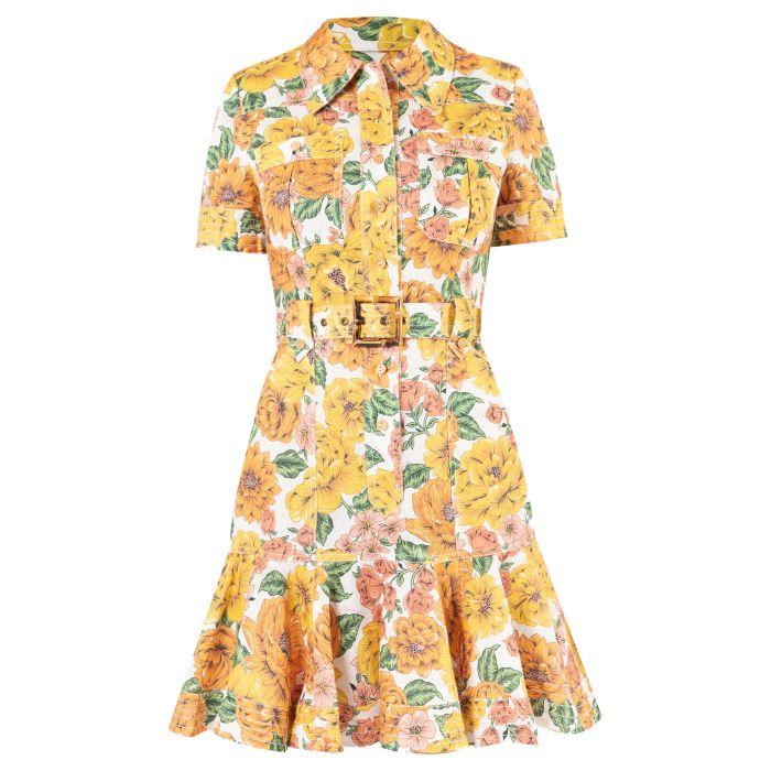 Платье Zimmermann POPPY желтое