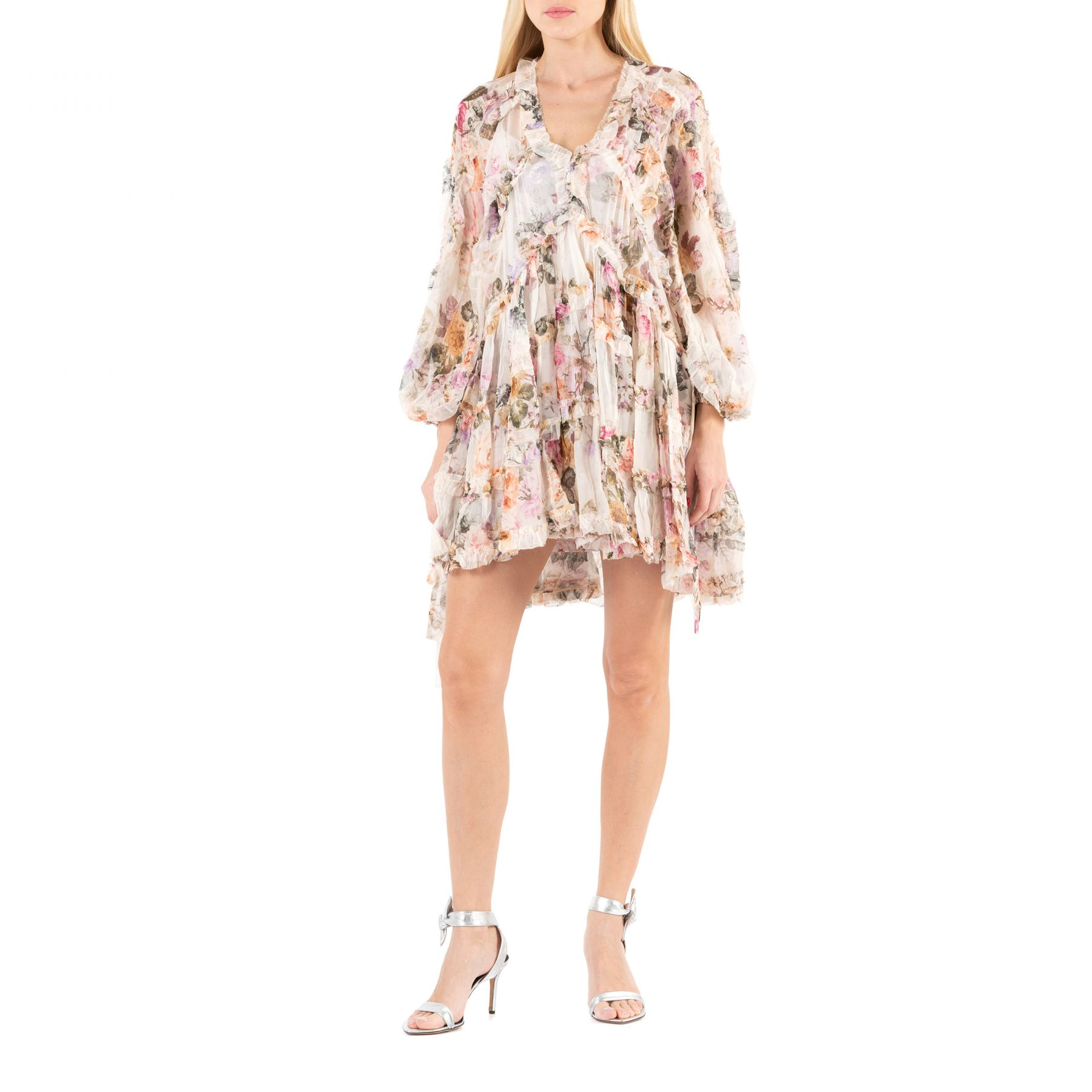 Платье Zimmermann BRIGHTON пудровое