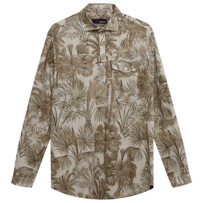 Рубашка с длинными рукавами Lardini хаки