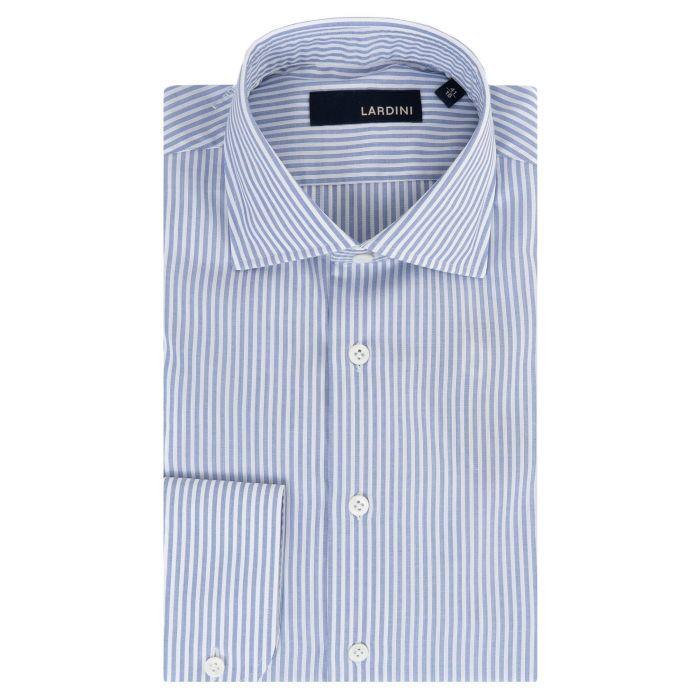 Рубашка с длинными рукавами Lardini бело-голубая
