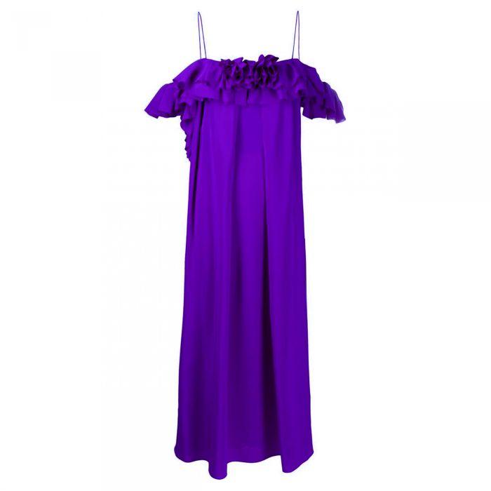 Сарафан Victoria Beckham фиолетовый