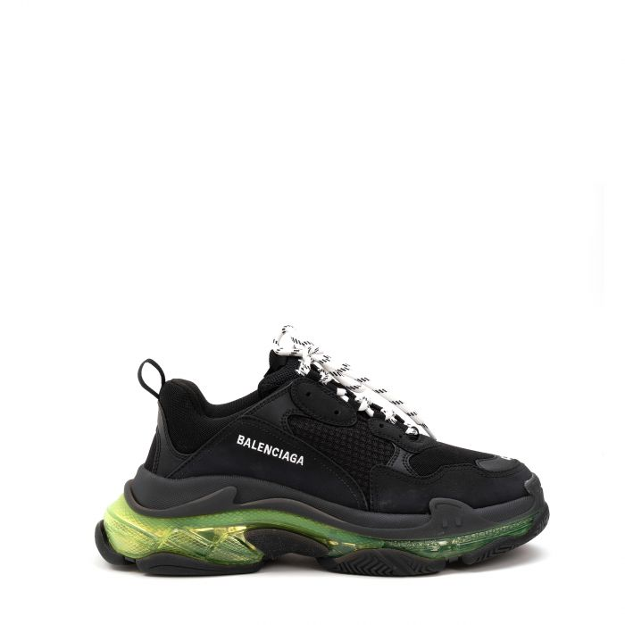 Сникеры Balenciaga Triple S Clear Sole  черно-желтые