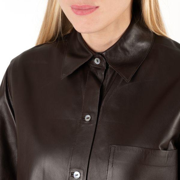 Рубашка с длинными рукавами Vince шоколадная