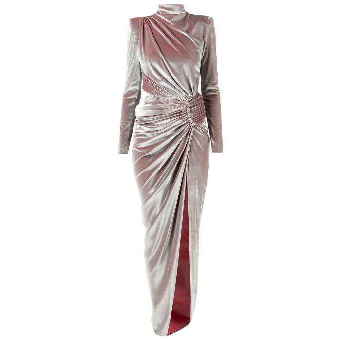 Платье длинное Alexandre Vauthier ментоловое
