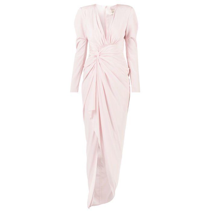 Платье длинное Alexandre Vauthier розовое