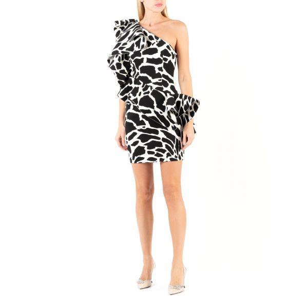 Платье Alexandre Vauthier черно-белое