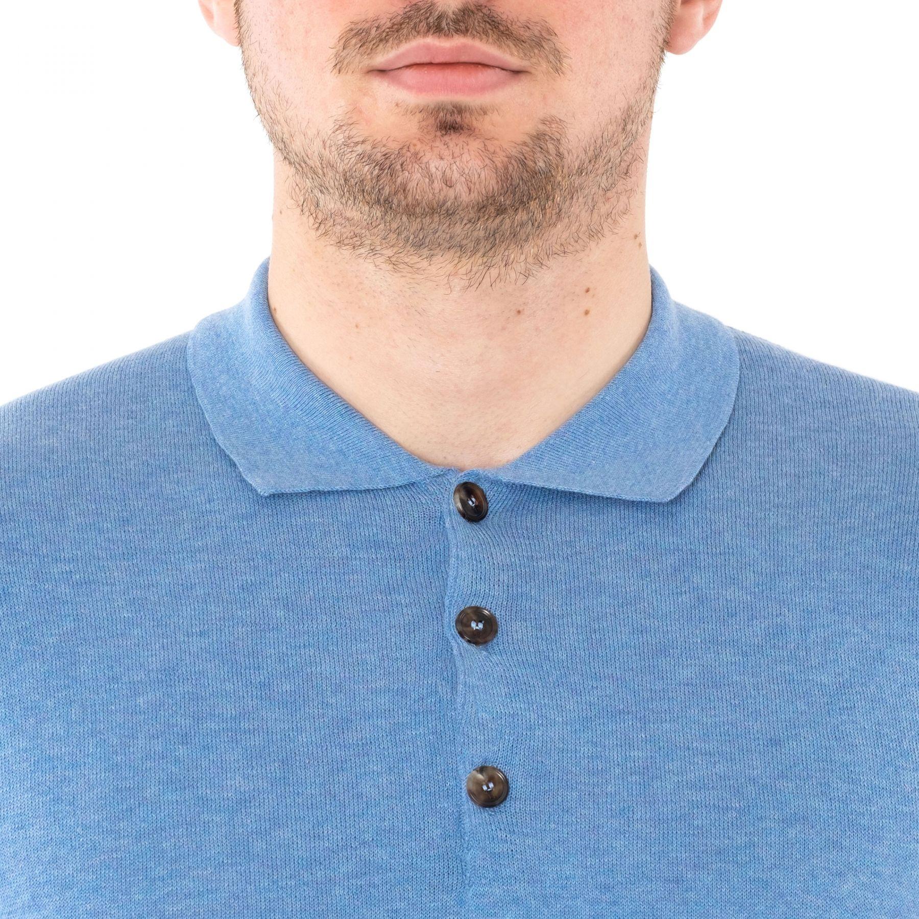 Поло Luciano Barbera голубое