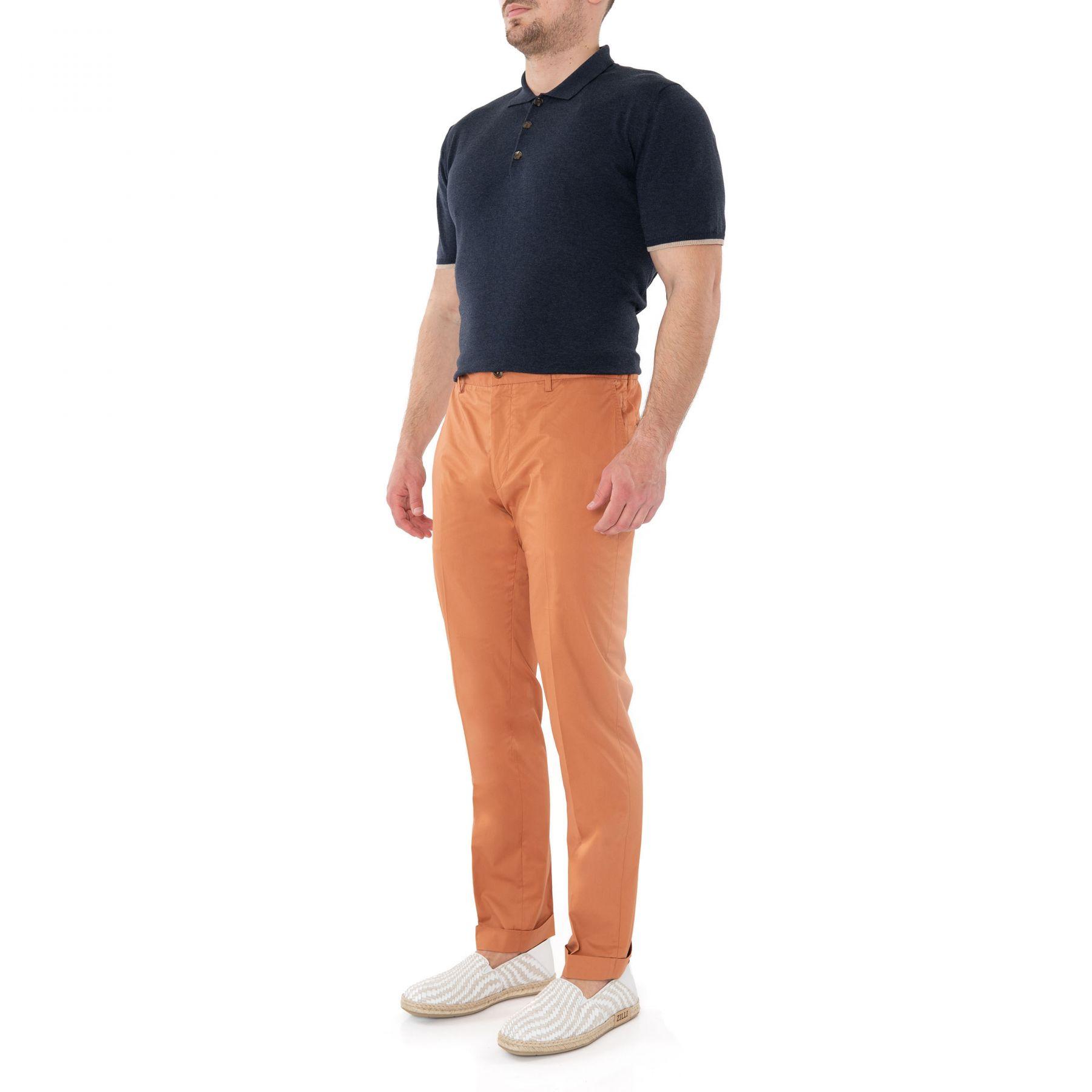 Брюки Luciano Barbera оранжевые