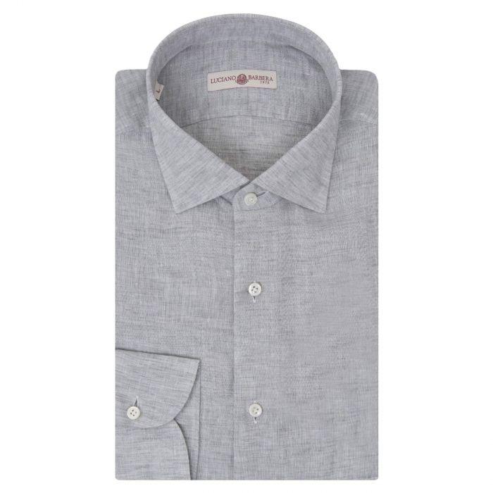 Рубашка с длинными рукавами Luciano Barbera светло-серая