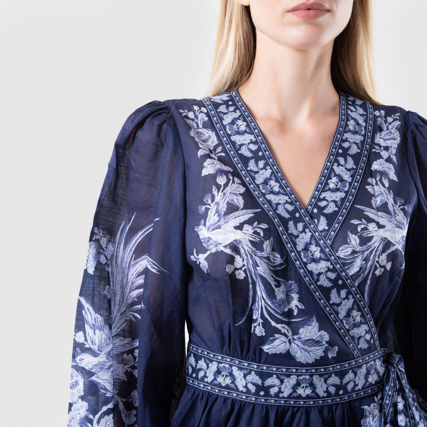 Платье Zimmermann ALIANE темно-синее