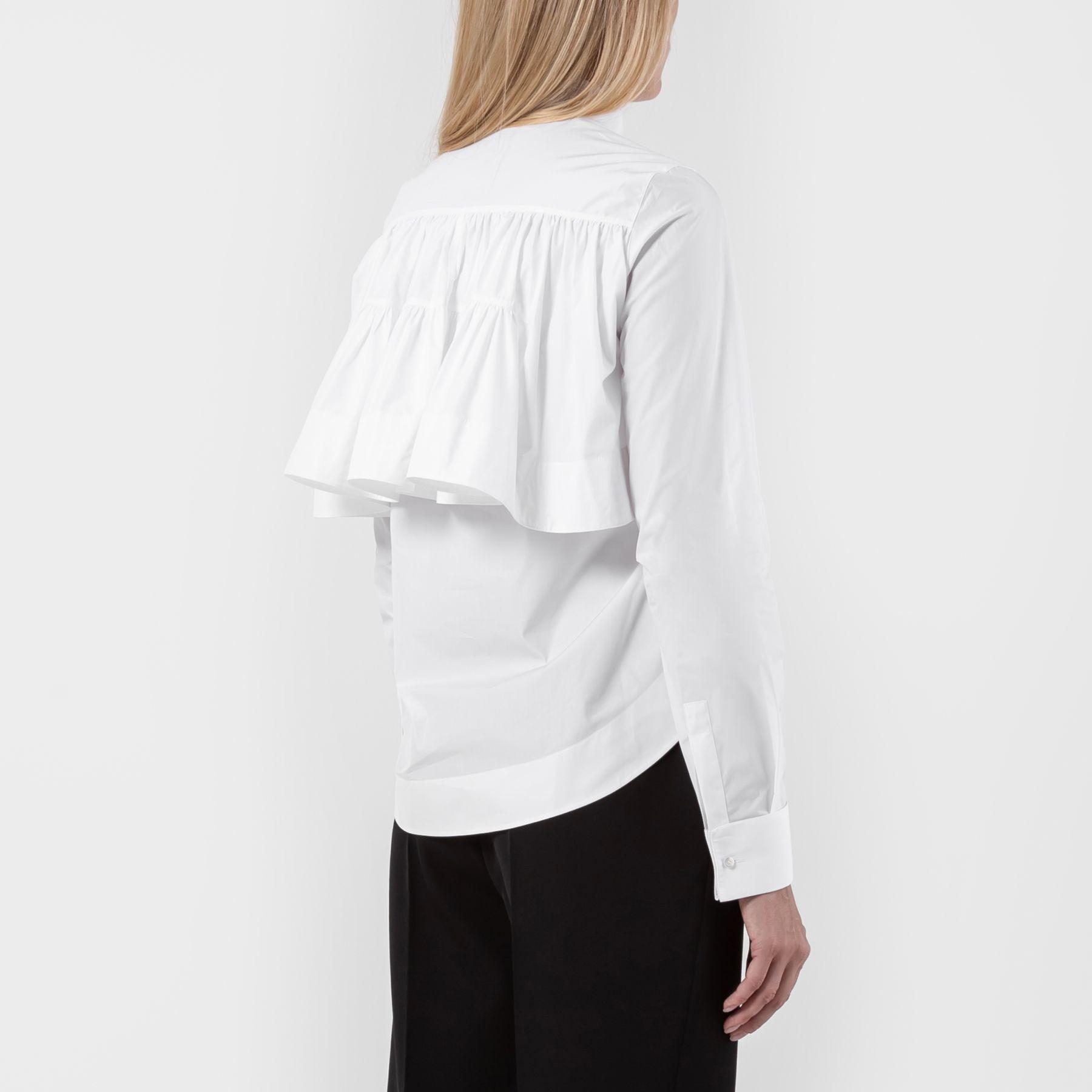 Рубашка с длинными рукавами Alaia белая