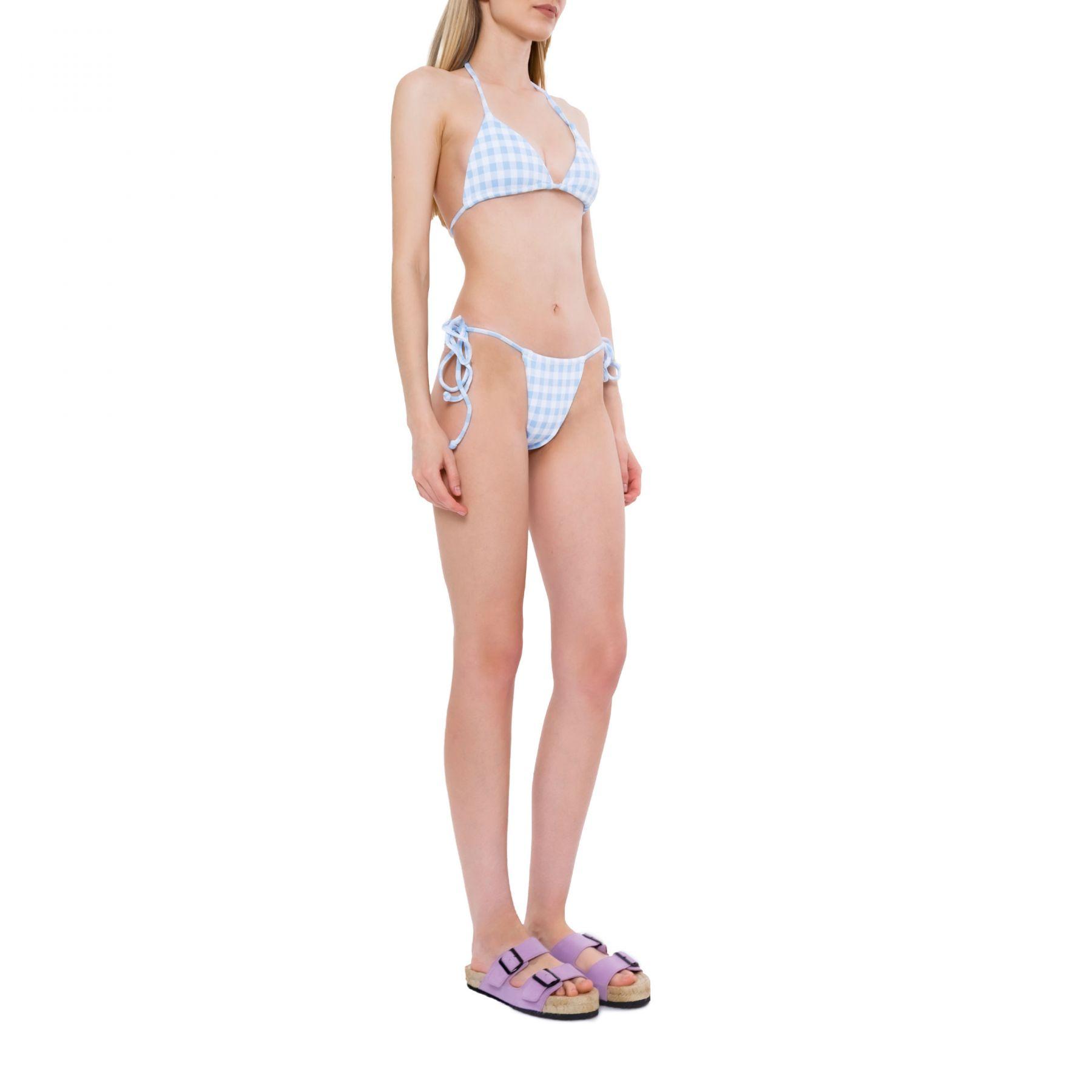 Лиф Frankie's Bikinis Tia бело-голубой