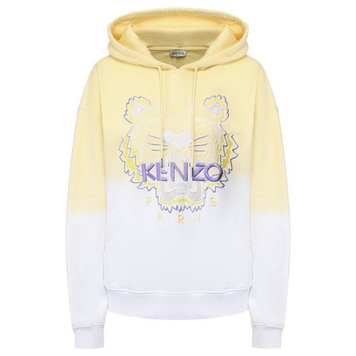 Худи Kenzo Tiger желто-белое