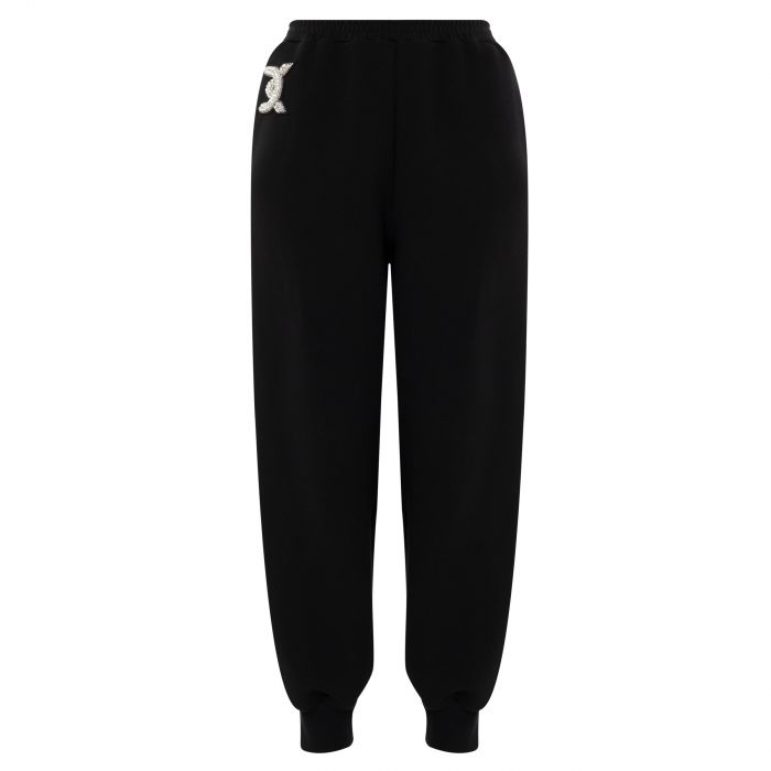Спортивные брюки David Koma черные