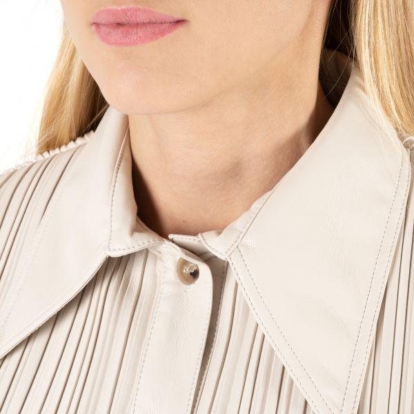 Рубашка с длинными рукавами Nanushka BLAINE молочная