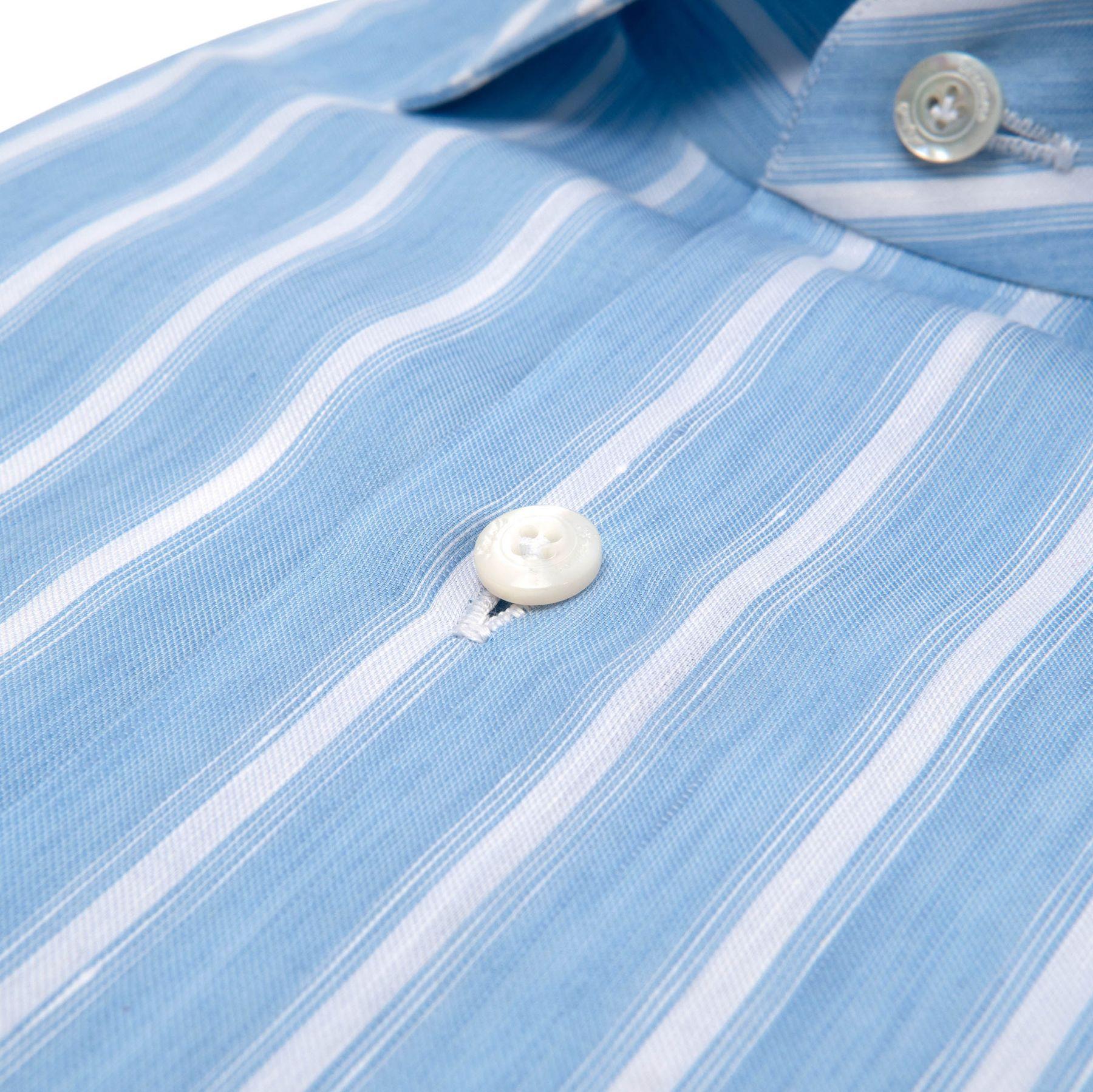 Рубашка с длинными рукавами Finamore голубая