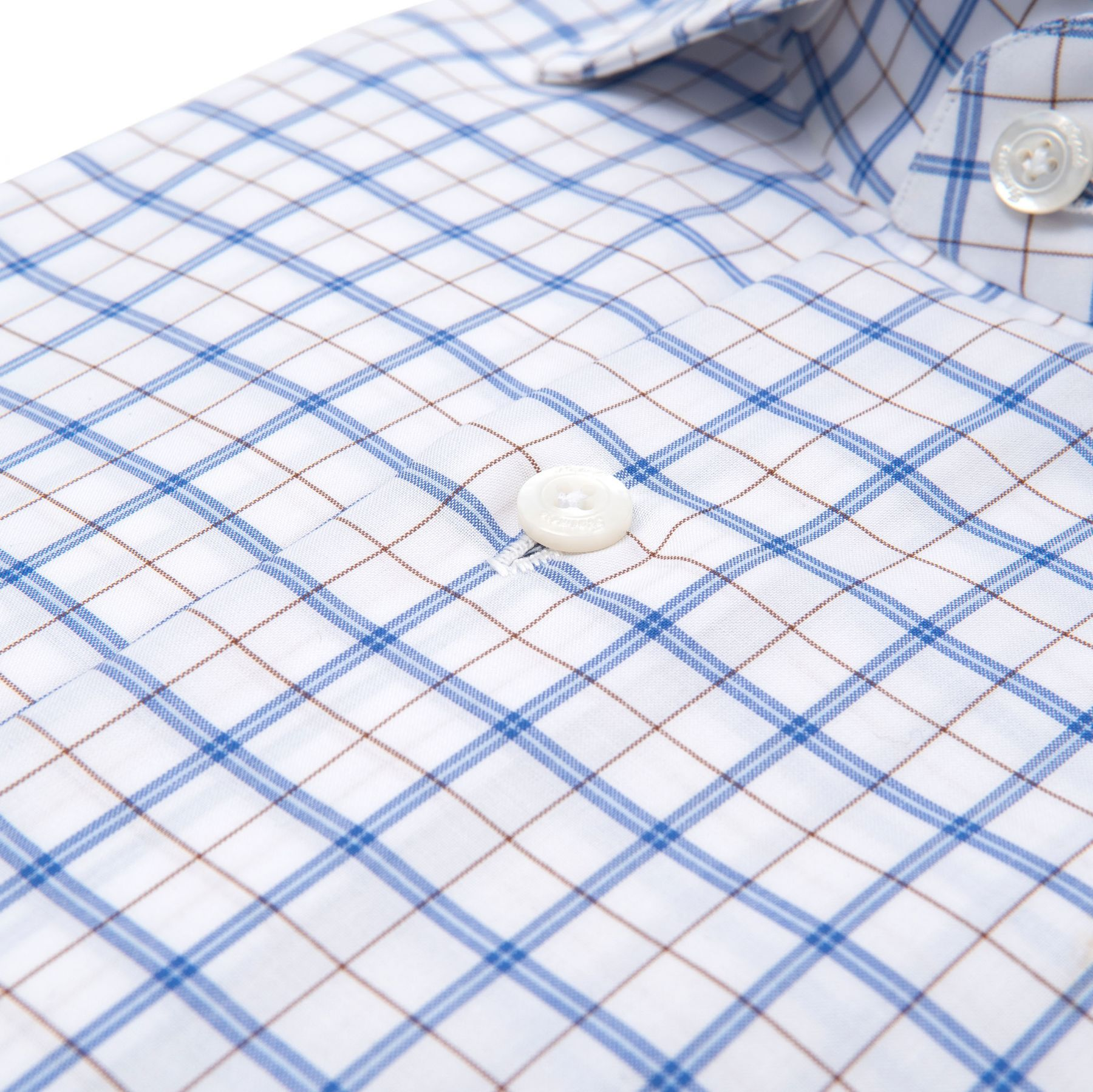 Рубашка с длинными рукавами Finamore бело-голубая