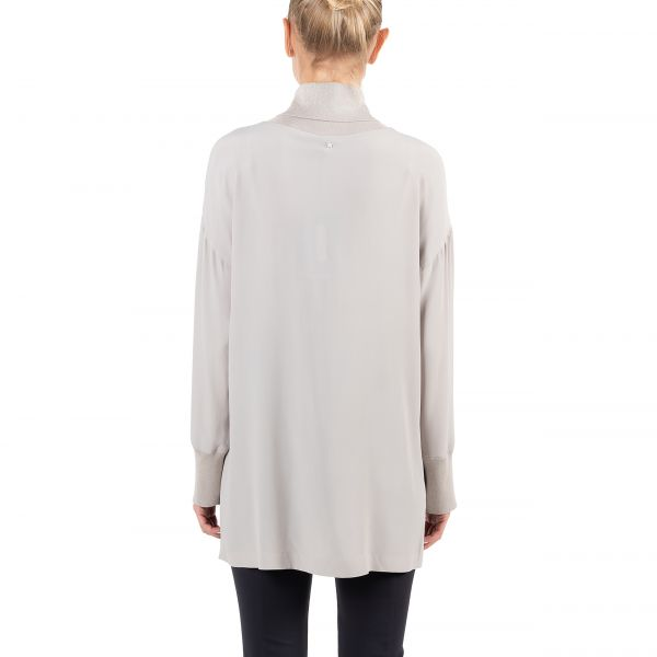 Блуза Lorena Antoniazzi светло-серая
