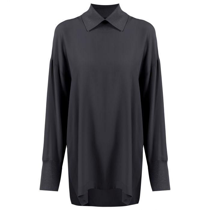 Блуза Lorena Antoniazzi темно-серая