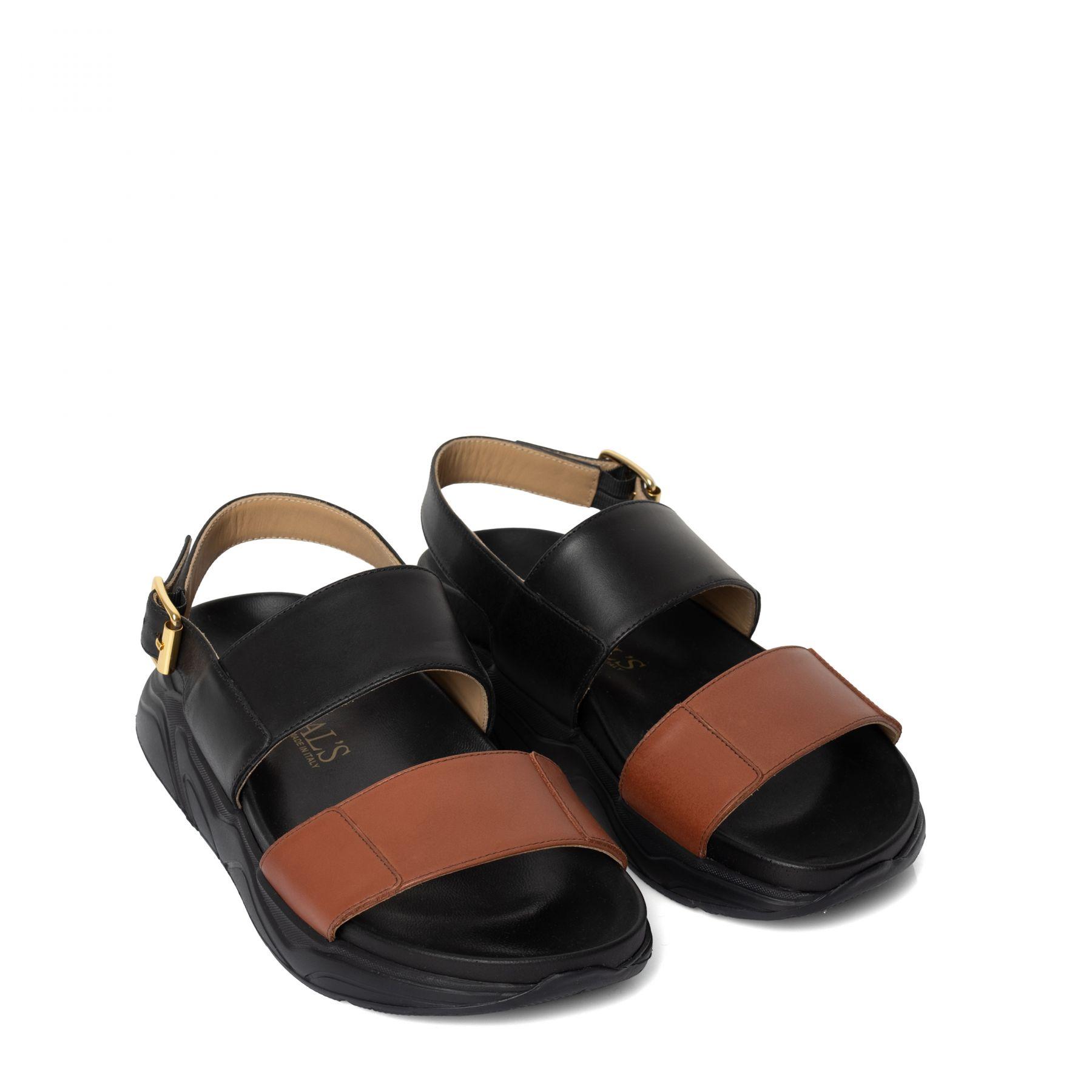 Босоножки Doucal's черно-коричневые