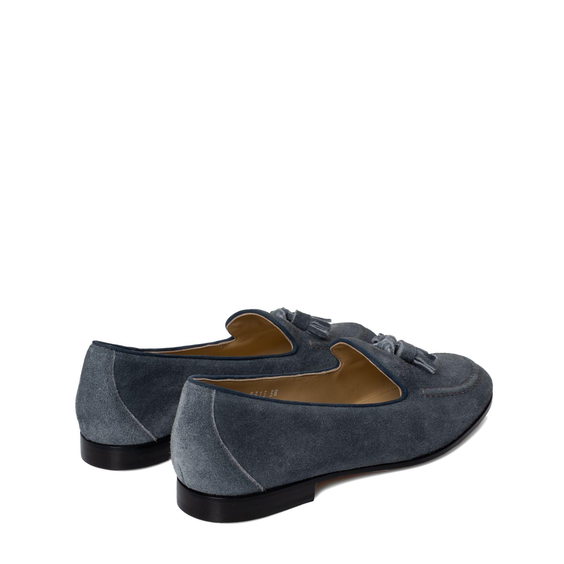 Лоферы Doucal's серо-голубые