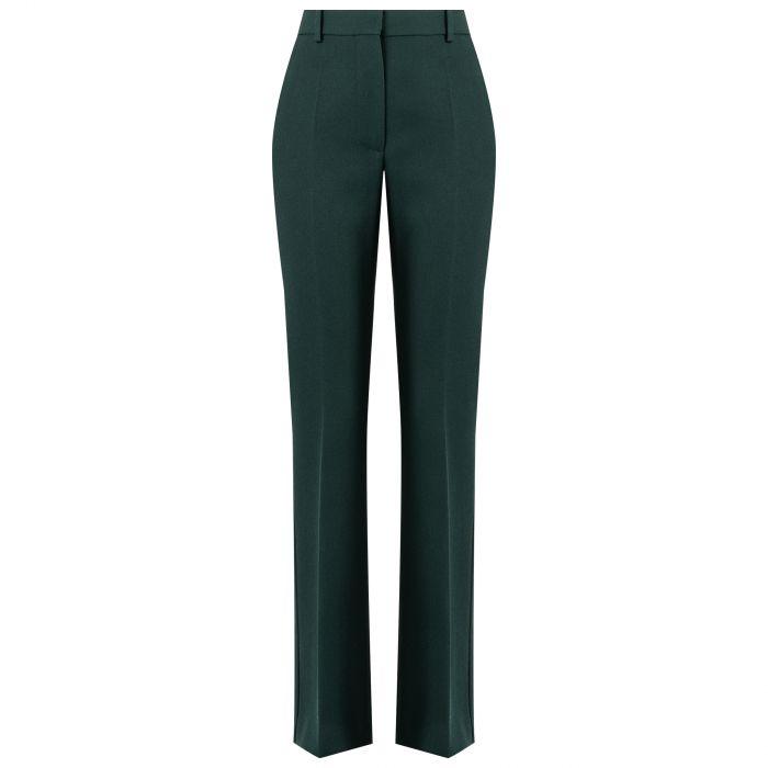 Брюки Victoria Beckham темно-зеленые
