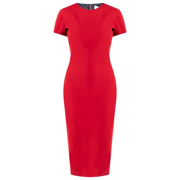 Платье Victoria Beckham красное