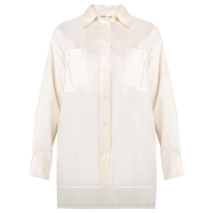 Рубашка с длинными рукавами Victoria Beckham белая