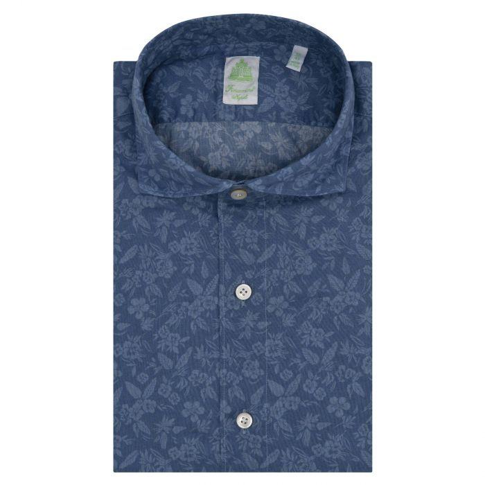 Рубашка с длинными рукавами Finamore синяя
