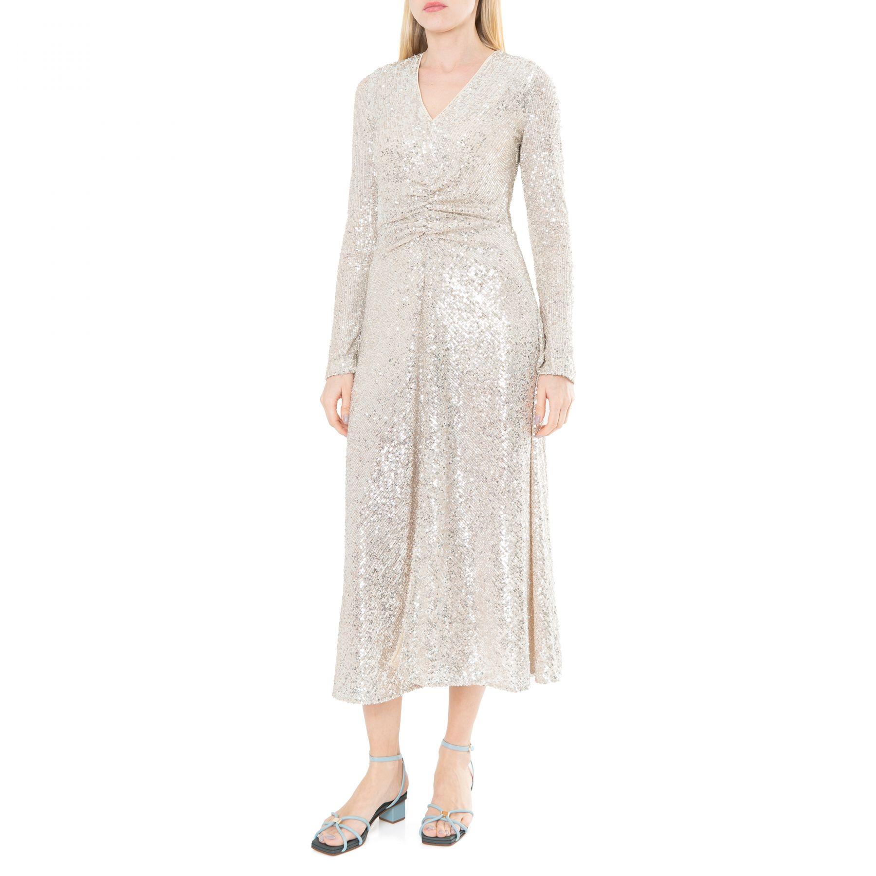 Платье Rotate Sierra серебряное