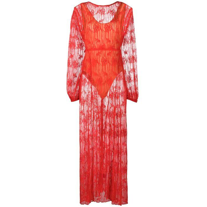 Платье Rotate красное