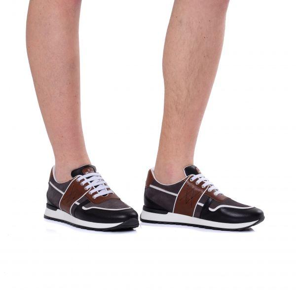 Кроссовки Artioli черно-коричневые