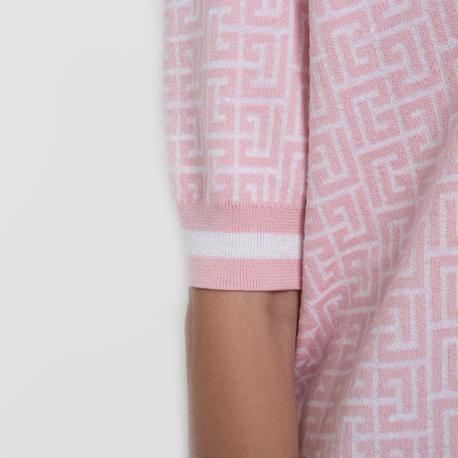 Поло Balmain розово-белое