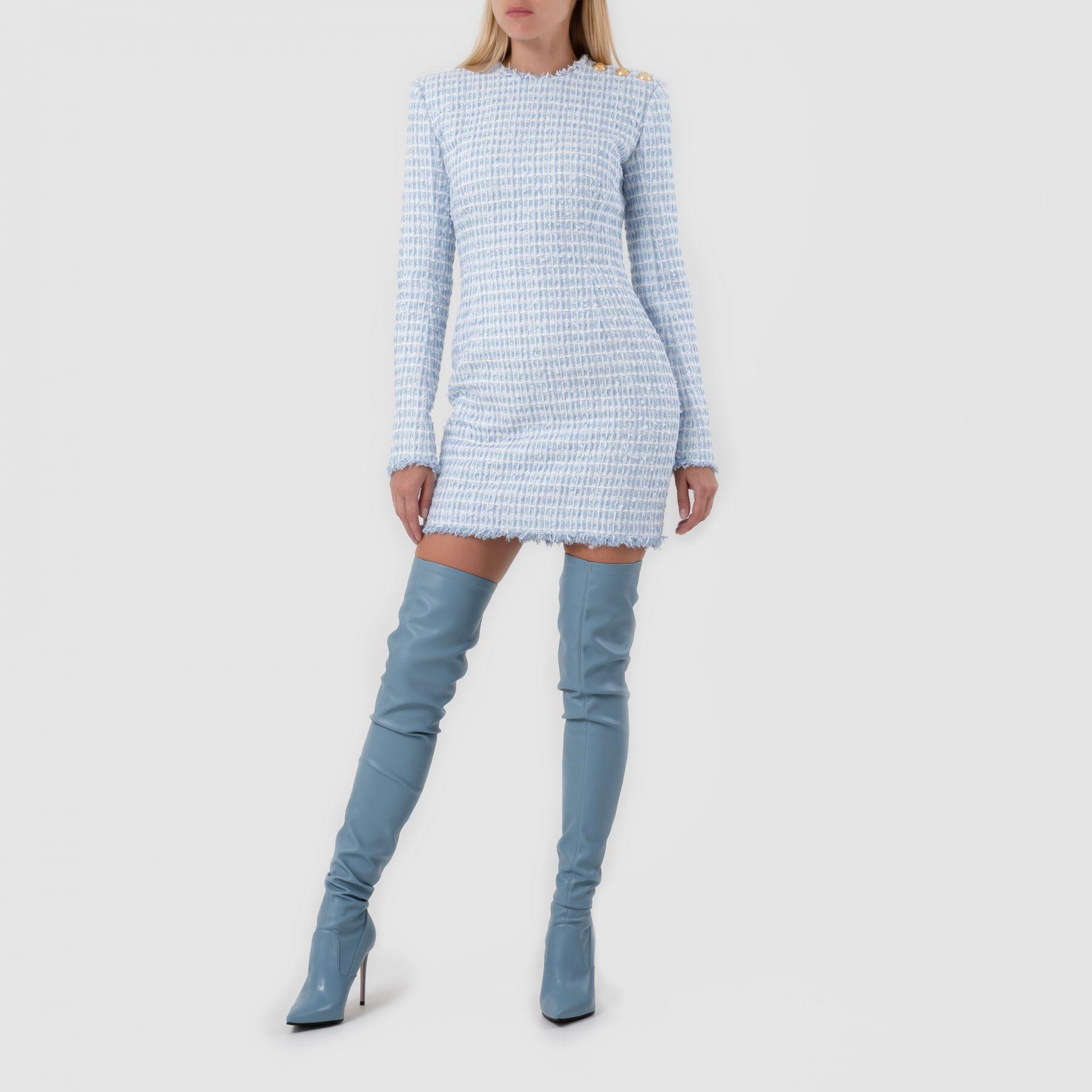 Платье Balmain голубое