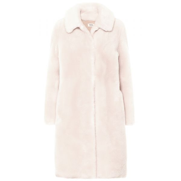 Пальто Yves Salomon бело-розовое