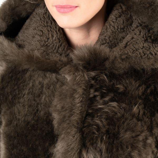 Шуба Yves Salomon коричневая