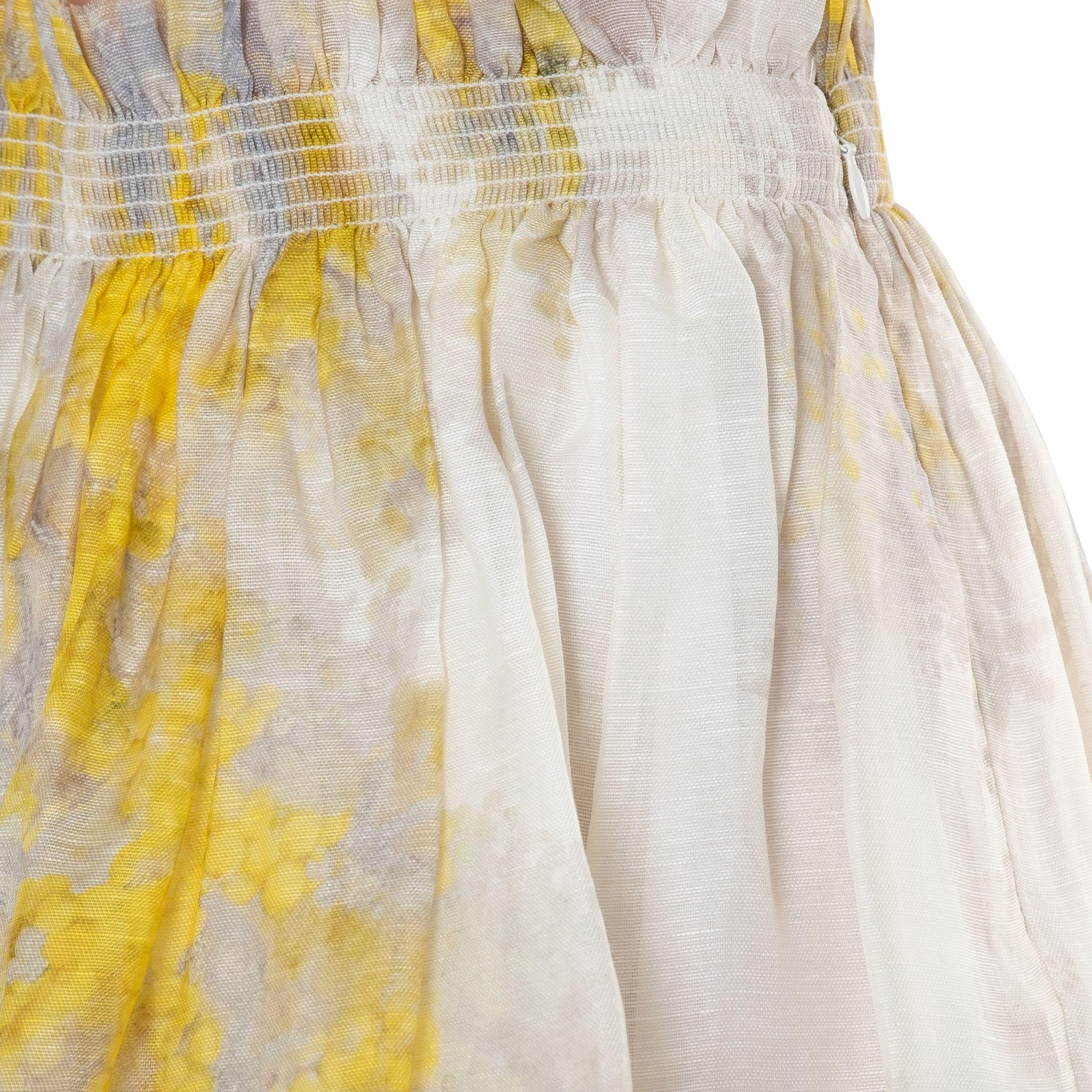 Юбка Zimmermann Botanica Wattle желто-белая