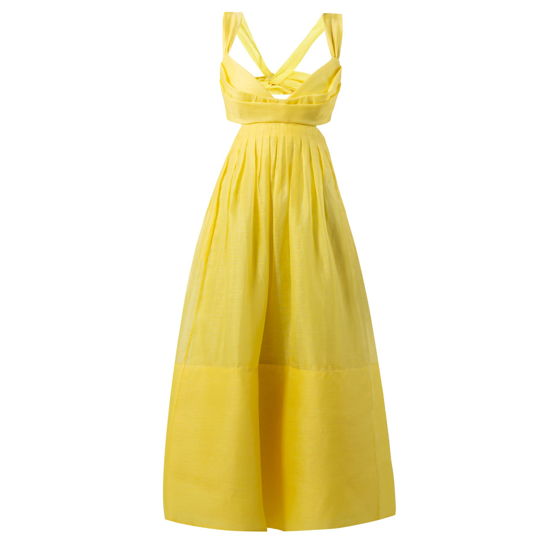 Платье Zimmermann желтое