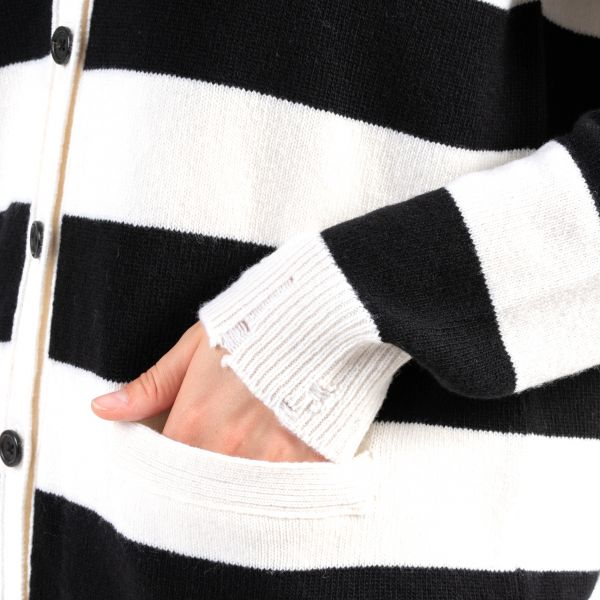 Кардиган Marc Jacobs черно-белый