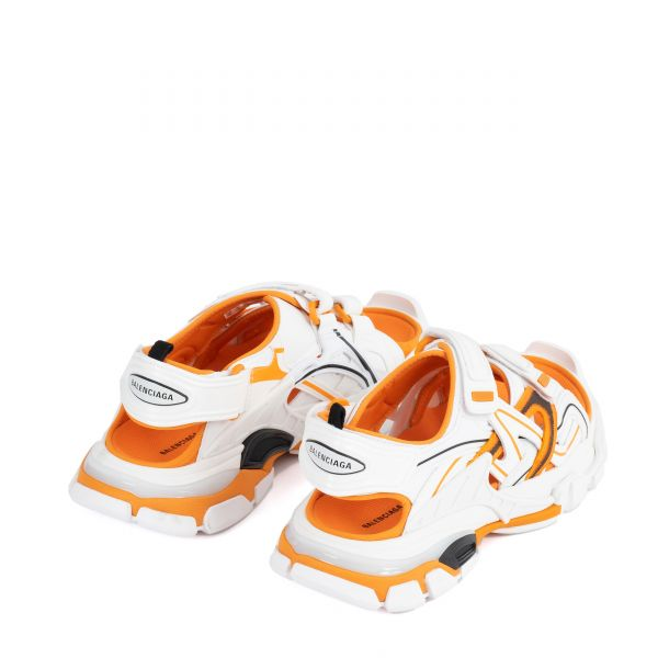 Сандалии Balenciaga бело-оранжевые