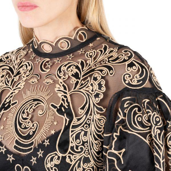 Платье Zimmermann LADYBEETLE FORTUNE черное