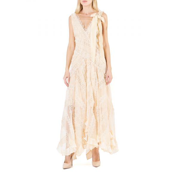 Платье Zimmermann CHARM STAR кремовое