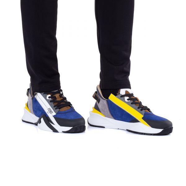Кроссовки Fendi сине-белые