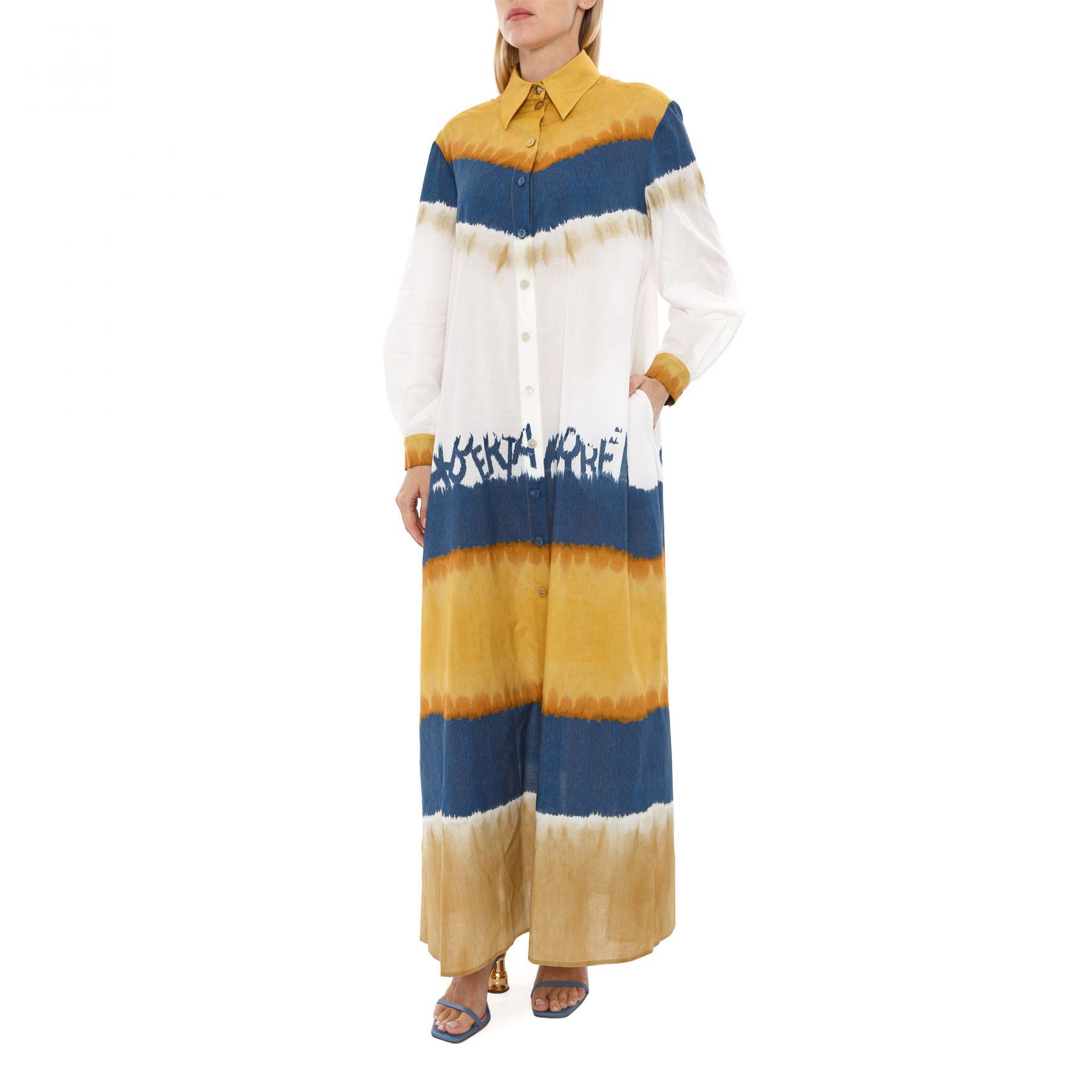 Платье Alberta Ferretti разноцветное